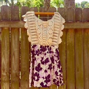 Kimchi Blue UO Crochet & Floral Summer Dress